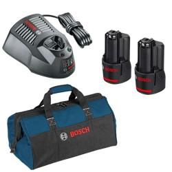 Set acumulatori 12 V, incarcator, geanta de transport Bosch