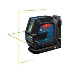Nivela laser cu 2 linii Bosch cu lumina verde GLL 2-15 G + suport tavan