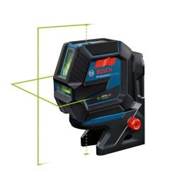 Nivela laser cu 2 linii si puncte Bosch cu lumina verde GLL 2-50 G