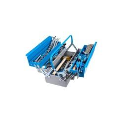 Trusa scule in cutie metalica pentru lacatusi, 80 piese,...