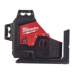 Nivela laser Milwaukee cu 3 planuri si lumina verde M12...