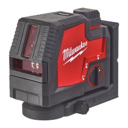 Nivela laser Milwaukee cu 2 planuri si fascicul verde  L4...