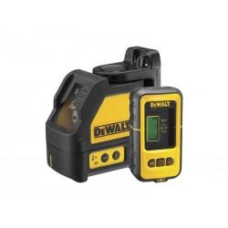 Nivela laser in cruce DeWalt DW088KD-XJ cu detector DE0892