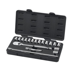 """Trusa capete chei tubulare 1/2"""" si accesorii 18 piese, GearWrench 80708"""