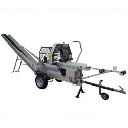 Masina pentru debitat si despicat lemn cu banda transportoare Lumag SSA 400E