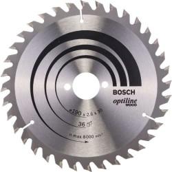 Panza de ferastrau circular Bosch Optiline Wood  190x30, 36 dinti