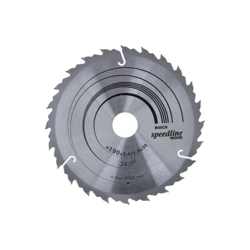 Panza de ferastrau circular Bosch Speedline Wood 190x30,24 dinti
