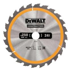 Panza de ferastrau circular Dewalt CONSTRUCTION 250x30,Z 24