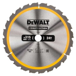 Panza de ferastrau circular Dewalt CONSTRUCTION 315x30,Z 24 DT1961